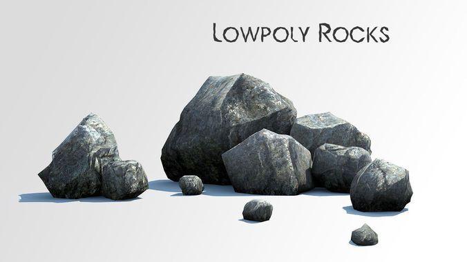 Download Rocks low poly asset free 3D model or browse 7844 similar