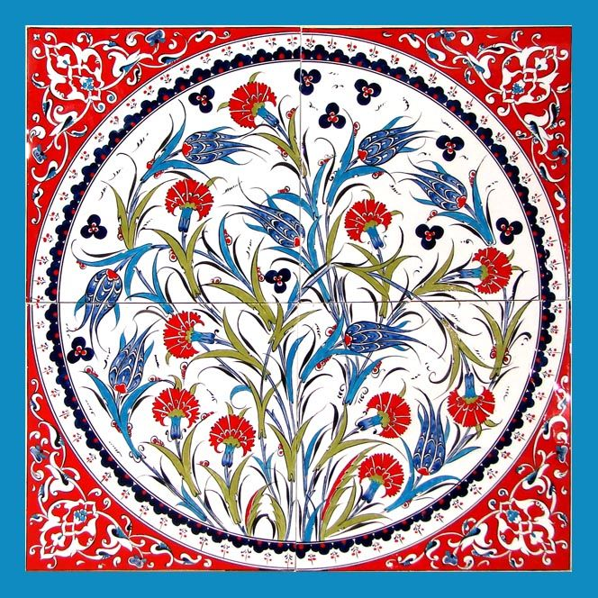 Firca Ceramics Handmade Iznik Ottoman Ceramics Decor Tile And