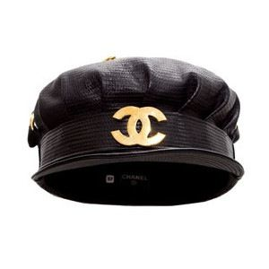1e368013737 Vintage Chanel Leather Biker Hat