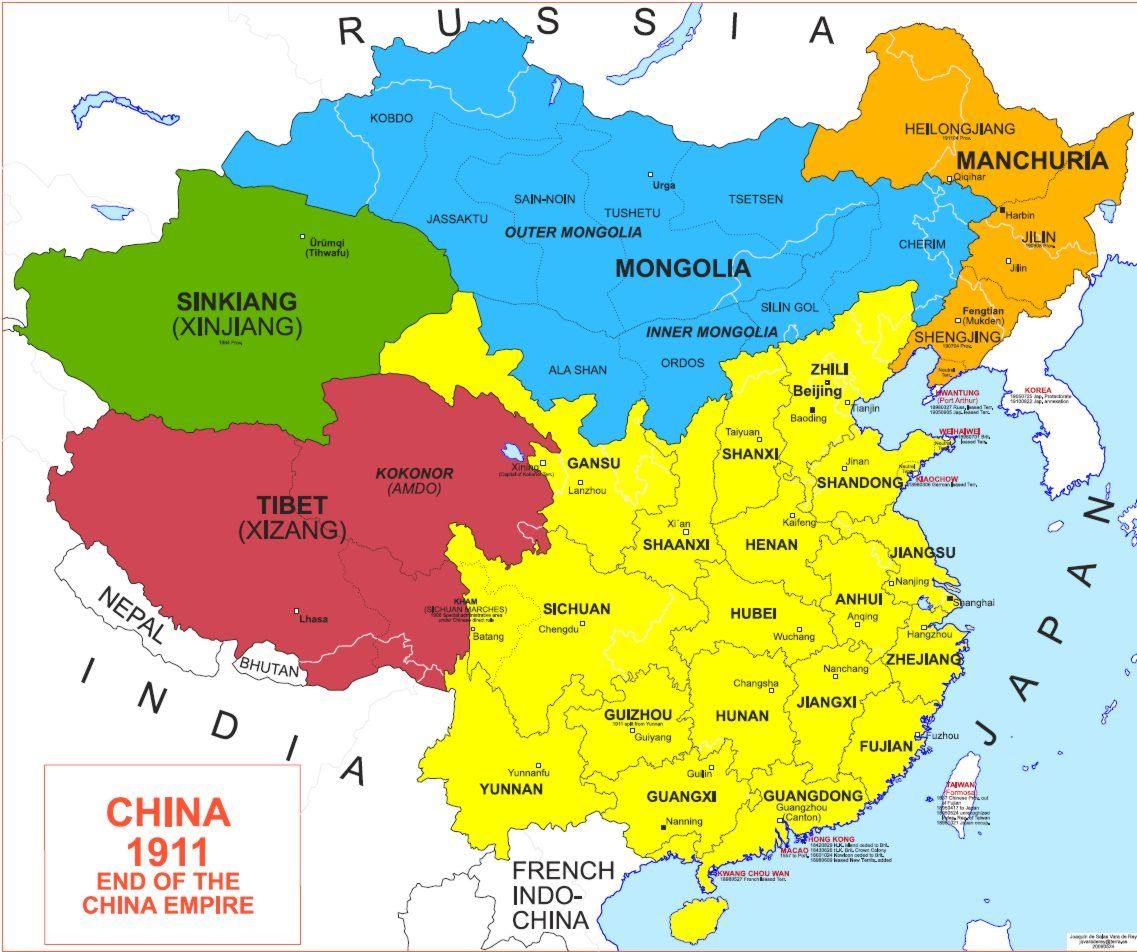Map of China 1911  Welten  Pinterest  China and History