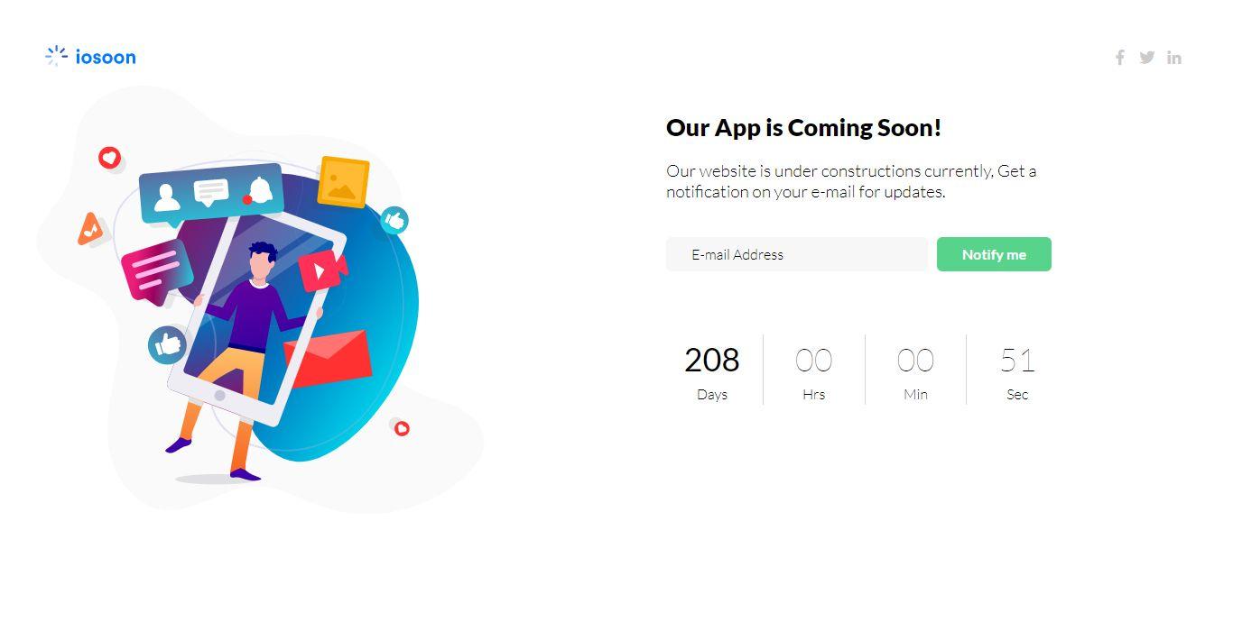 Iosoon Stunning Coming Soon Template Vol1 Website Template Html Website Templates Templates