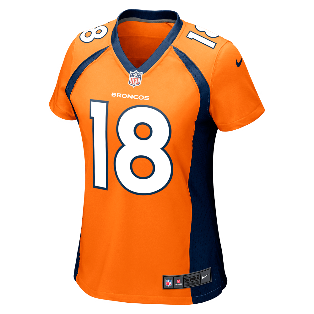 9a675eda5a3 Nike NFL Denver Broncos (Peyton Manning) Women s Football Home Game Jersey  Size Large (Orange)
