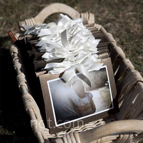DIY Wedding Program with an engagement photo