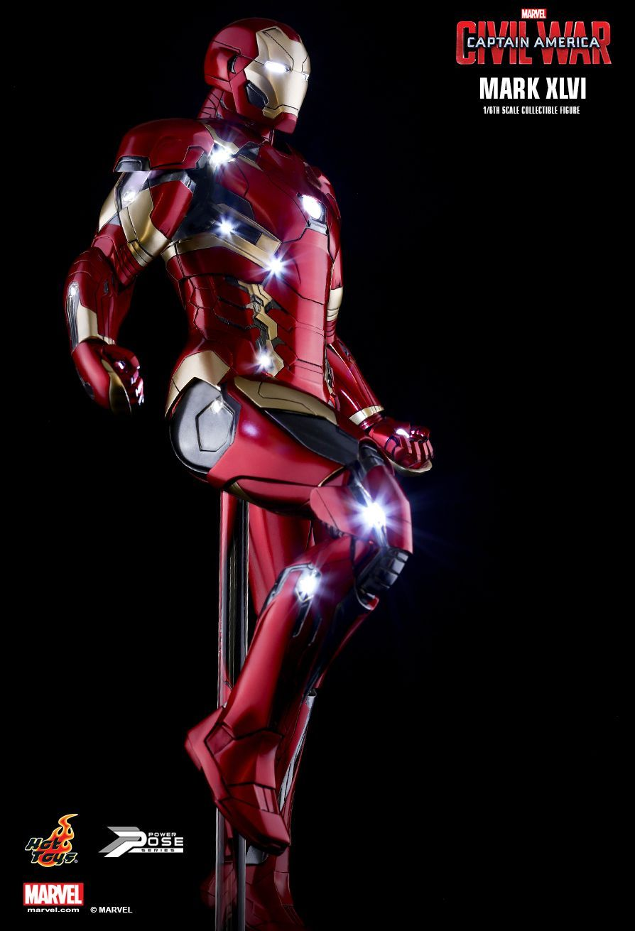 Iron Man América Civil War de Hot Toys | imágenes de referencia ...
