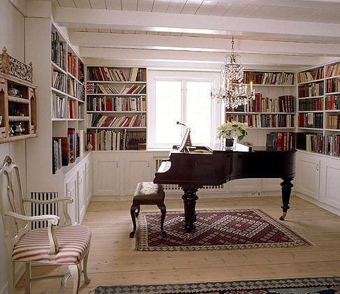 Library Room Ideas library and music room. i think that'd look good for a dining room