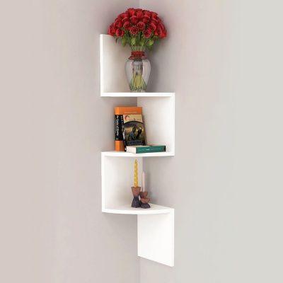 Height 71cm Width 18cm Depth 18cm Weight 2 5kg Material Wood Color White 180 Sr Wooden Wall Hangings Wooden Wall Shelves Modern Wall Shelf