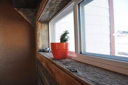Repurposed Barnwood Window Trim In 2019 Interior Window