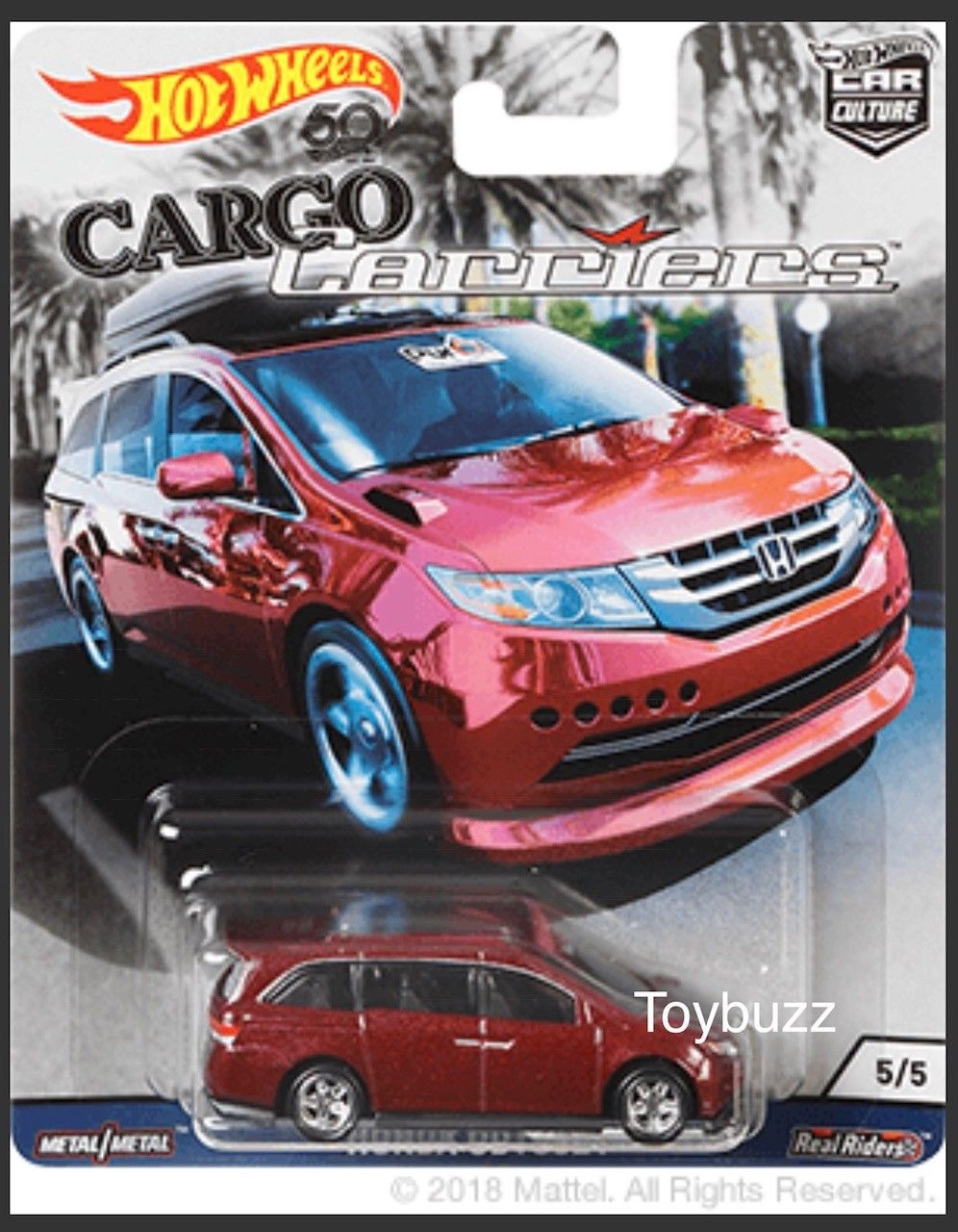 9 99 Hot Wheels 1 64 Car Culture Cargo Carriers Honda Odyssey Mini Van Fpy86