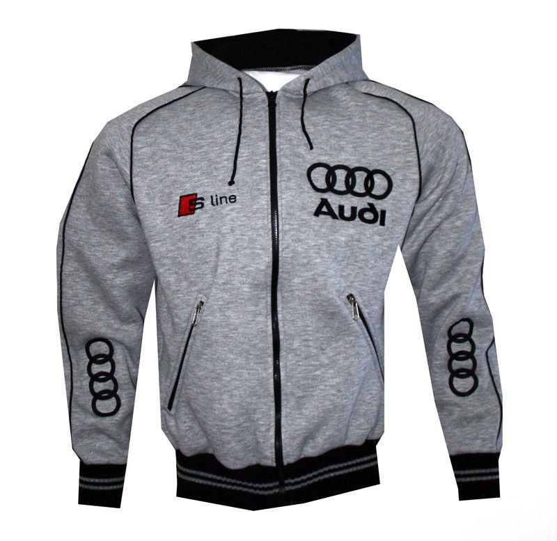 Audi Quattro Embroidered /& Personalised Fleece Jacket