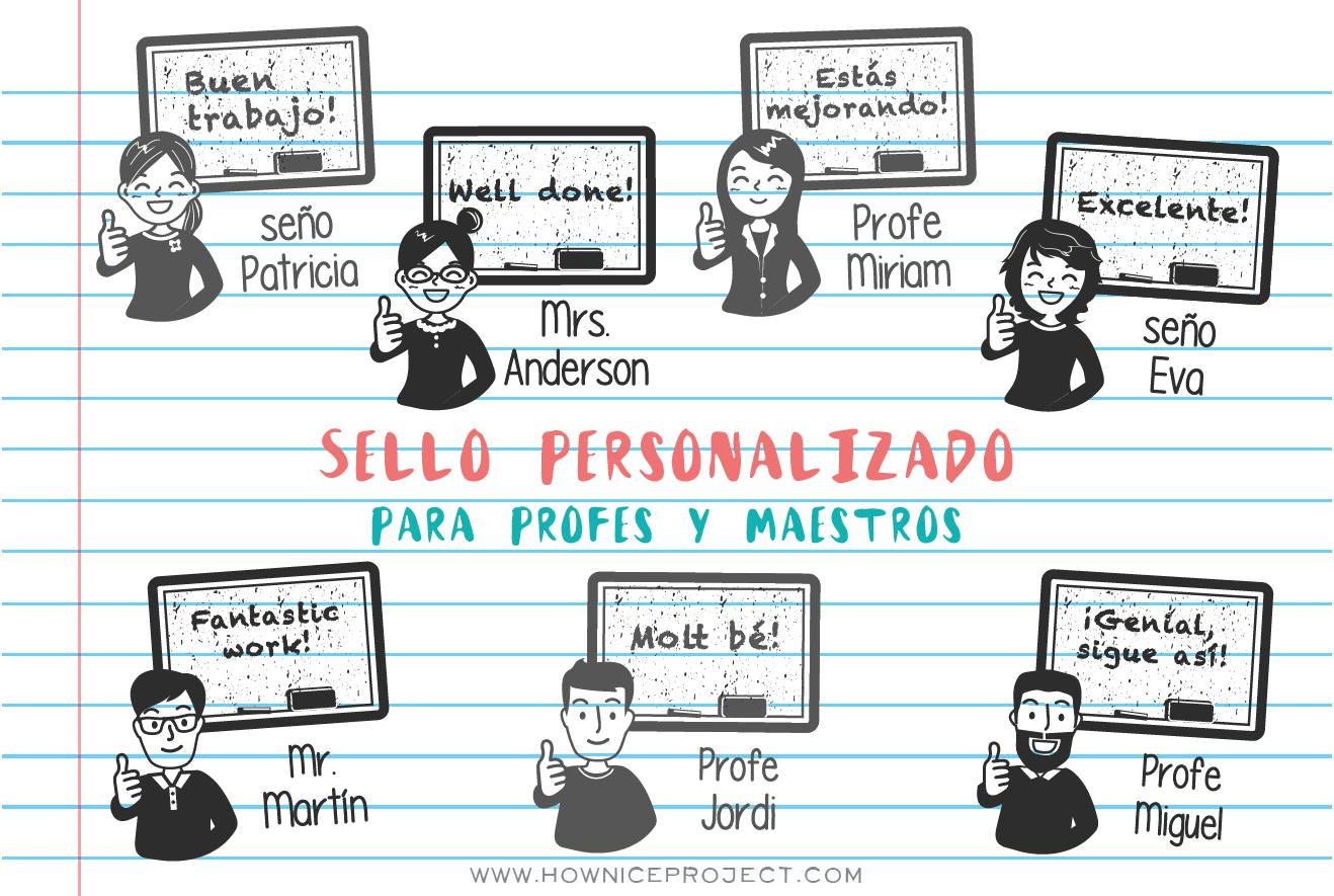 Sello Personalizado Para Profes Y Maestros How Nice Project Sellos Personalizados Sellos Libreta De Apuntes
