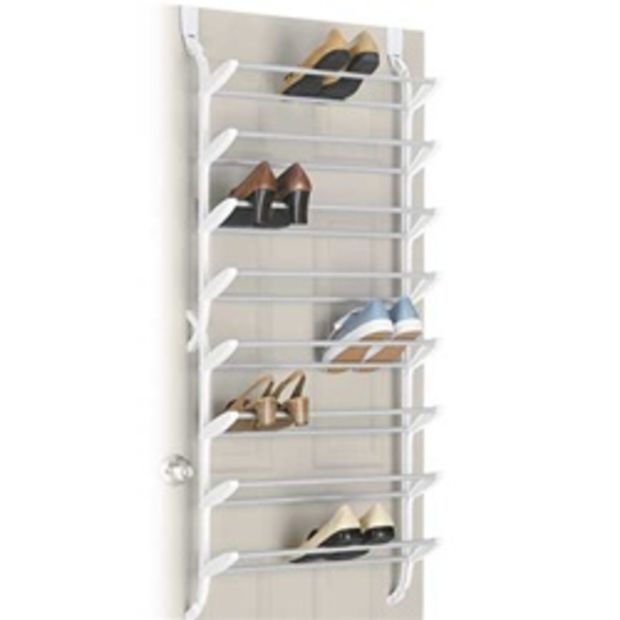 24 Pair Shoe Rack Non Slip Over The Door Cheap Closet Organizer For Shoes Shoe Stora Closet Organization Cheap Closet Shoe Storage Shoe Organization Closet
