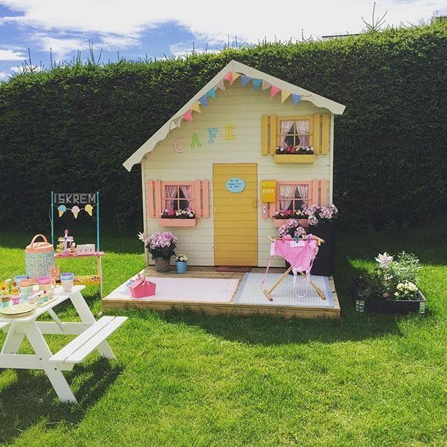 casita-cafe-jardin-niños   Casas de juegos   Pinterest   Juegos de ...