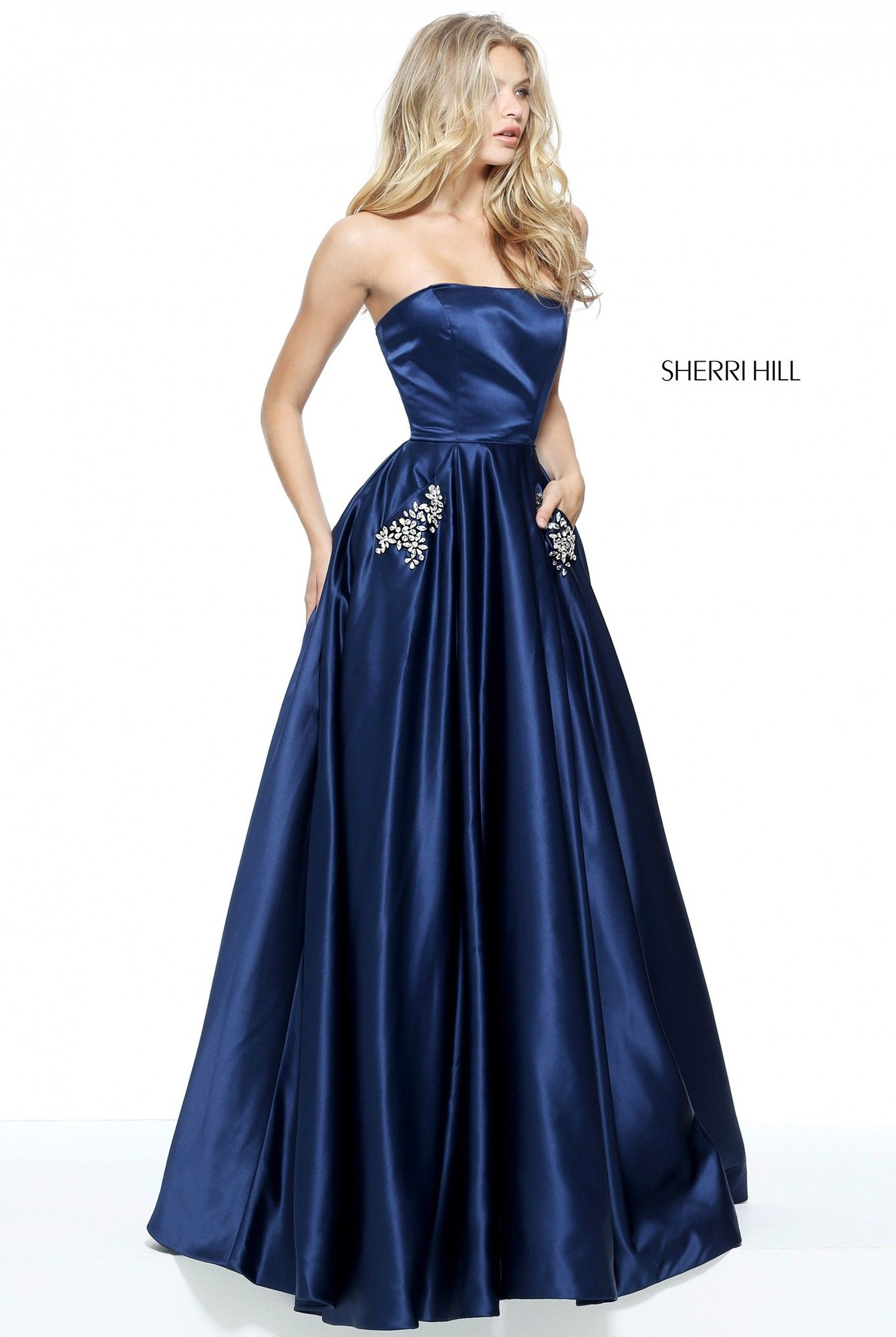 Sherri hill strapless satin ball gown ball gowns gowns and