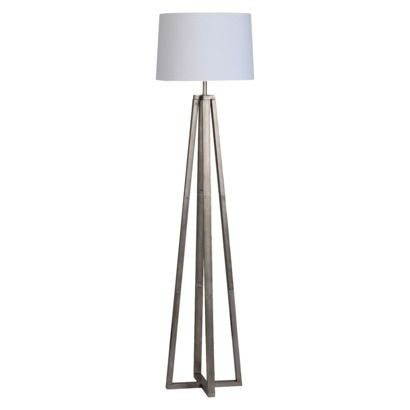 Threshold Brushed Silver Linear Shaded Floor Lamp What