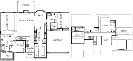 2 Story House Plans With Two Master Bedrooms Downstairs