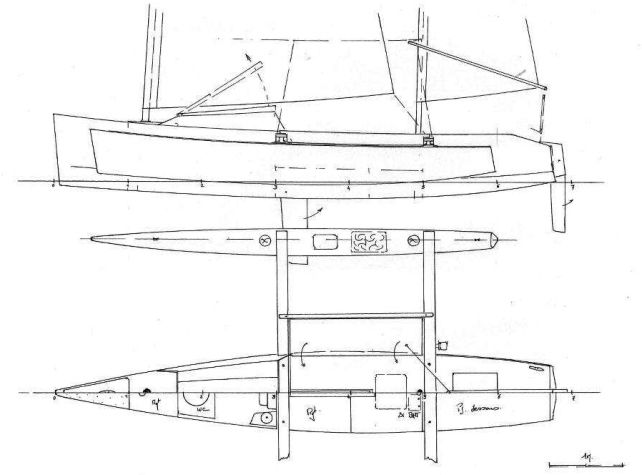 small trimarans plans design where to buy small trimarans plans free ... | Boats | Canoe plans ...