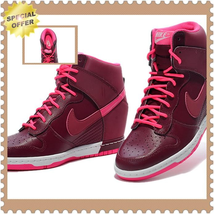 timeless design 335e5 99aae ... nike wmns dunk sky hi 81165007 55 dark red factory outlet