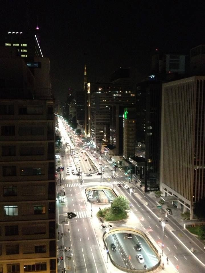 Av. Paulista em São Paulo, Brasil.