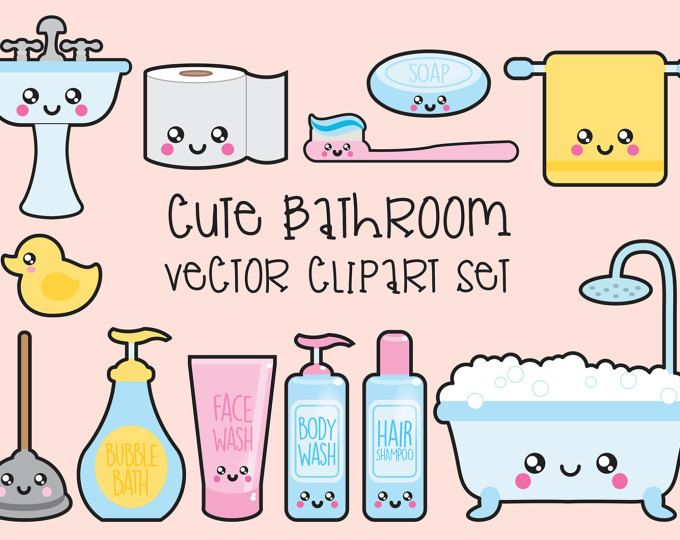 Premium Vector Clipart Kawaii Sushi Clipart Kawaii Sushi Clip Amazing Bathroom Clipart Set
