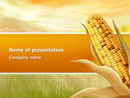 Corn Thanksgiving Free PowerPoint Template Free PowerPoint