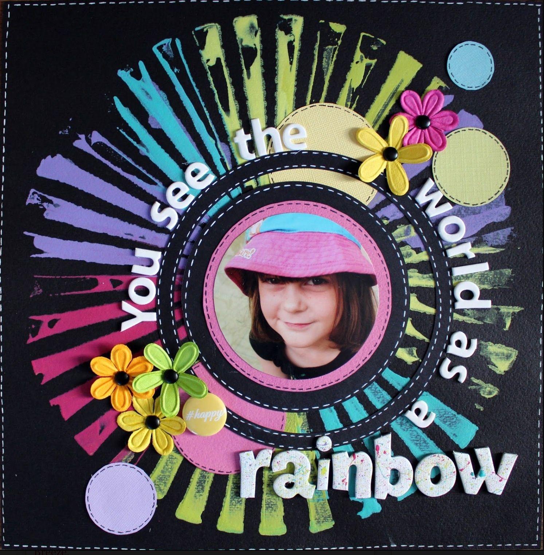 Scrapbook ideas rainbow - You See The World As A Rainbow Scrapbook Com