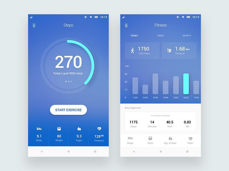image result for personal profile page template fitness app mobile