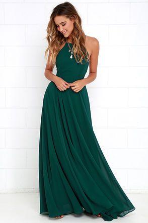 5fca5ecce7134 Mythical Kind of Love Dark Green Maxi Dress   Hippie   Bridesmaid ...