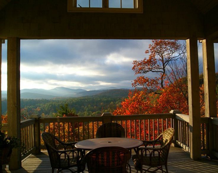 This Mountain Retreat Is Like a Tree House with Amazing Fall Views - Hooked on Houses