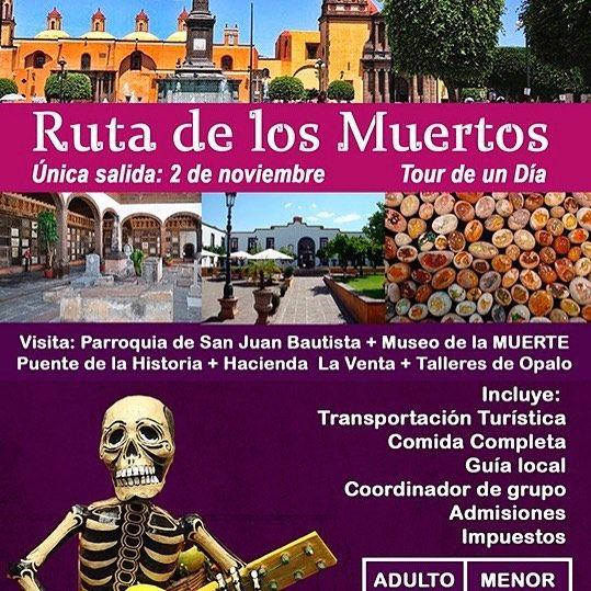 Celebra este #DíaDeMuertos en un increíble tour todo incluido por la ruta de los muertos. Mas información por inbox o al (55) 5093 7297