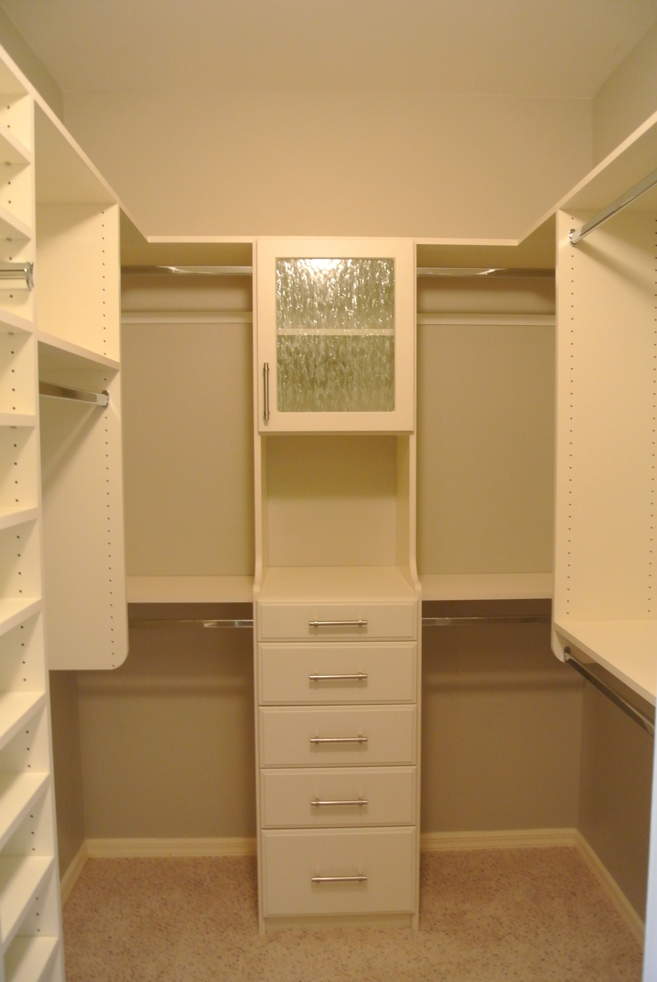 Arctic White Custom Walk In Closet In The Vineyards, Naples Florida  #customClosets #homeOrganization