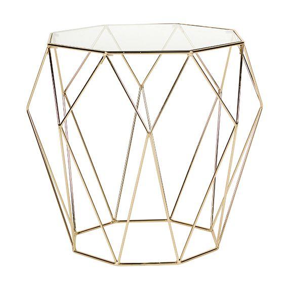 Gold / Diamond side table