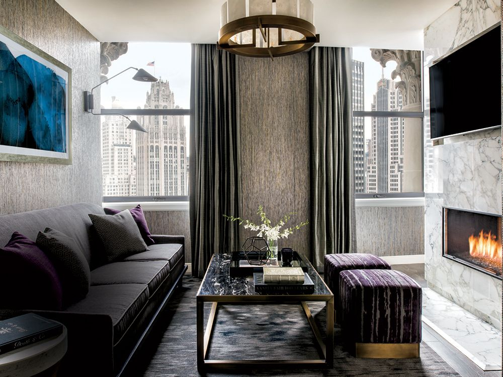 Londonhouse Chicago S Expansive Presidential Suite Home Sweet
