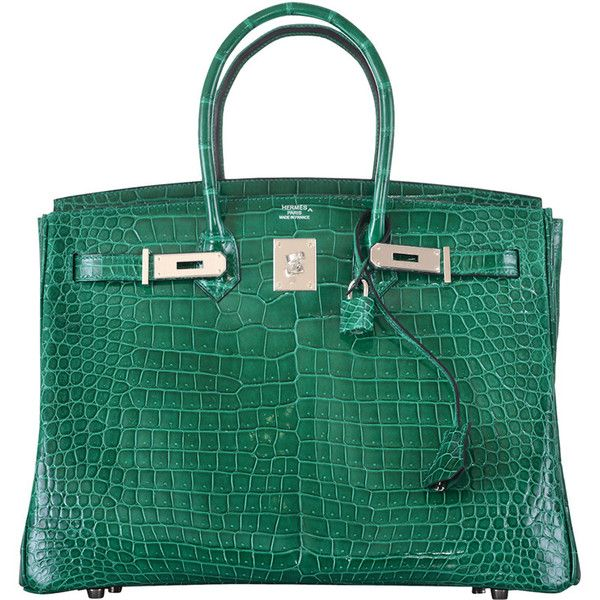 a115d68659 Pre-owned HERMES BIRKIN BAG 35cm EMERALD GREEN CROCODILE (VERT...  ( 110