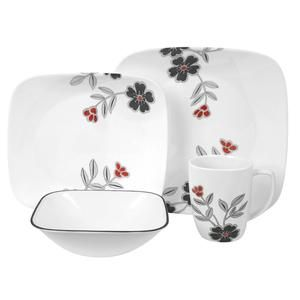 Beautiful Corelle Square Dinnerware Set for 4 pax with flower pattern  sc 1 st  Pinterest : corelle squared pattern dinnerware - pezcame.com