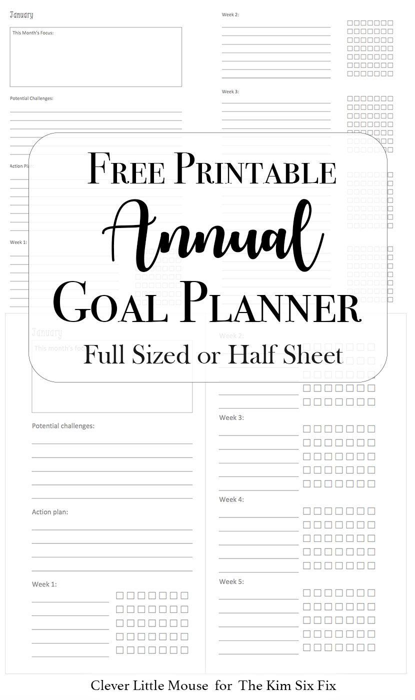 2017 goal planner printables to help you stay on track