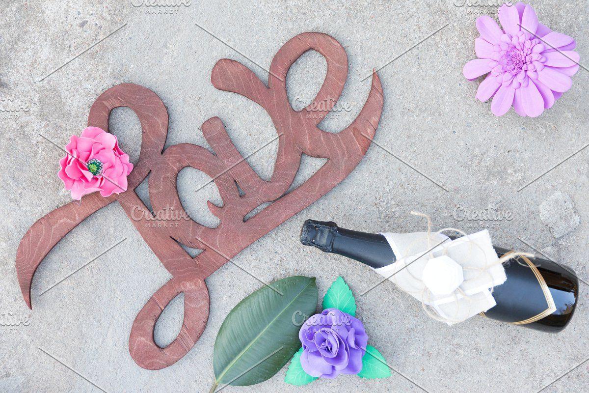 Photo of Flat layout love background #Sponsored , #Affiliate, #sign#handwritten#Wooden#ba…
