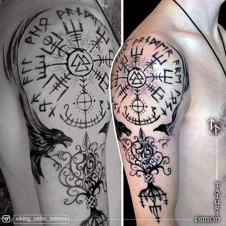 ", Dimon TATURIN 🇪🇪TATTOO•Estonia on Instagram: ""Today I Do IT too 👉@dimontaturin #VikingTattooArt  by ✔@viking_celtic_tattoos ✔ ✔ 👉  @dimontaturin 🇪🇪 . . .#TodayTattoo.  #FirstTattoo . .…"", My Tattoo Blog 2020, My Tattoo Blog 2020"