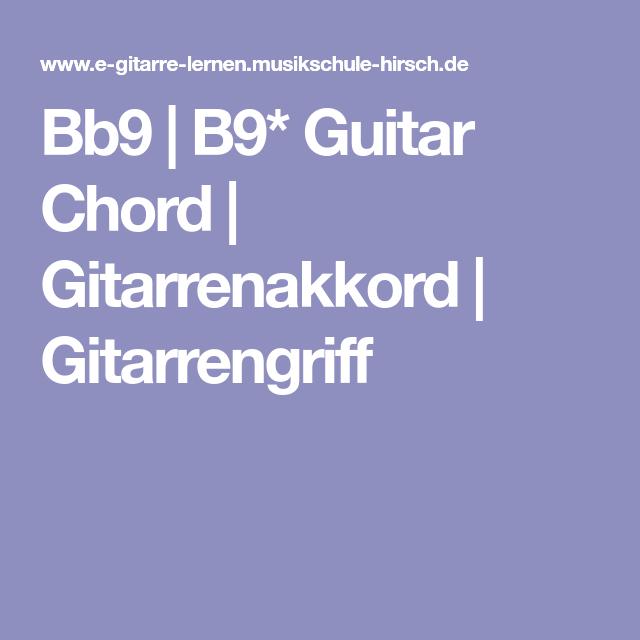 Bb9 B9 Guitar Chord Gitarrenakkord Gitarrengriff Chords