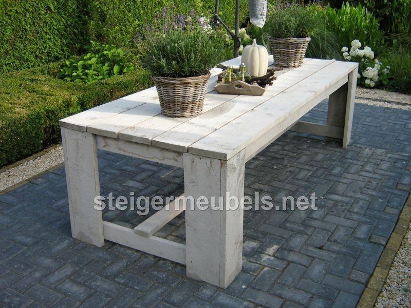 Steigerhouten tuintafel tuin pinterest veranda terras en tuin for Buiten patio model
