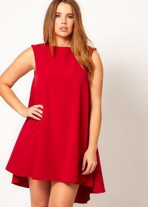 Vestidos Rojos Cortos Para Gorditas En 2019 Vestidos Rojos
