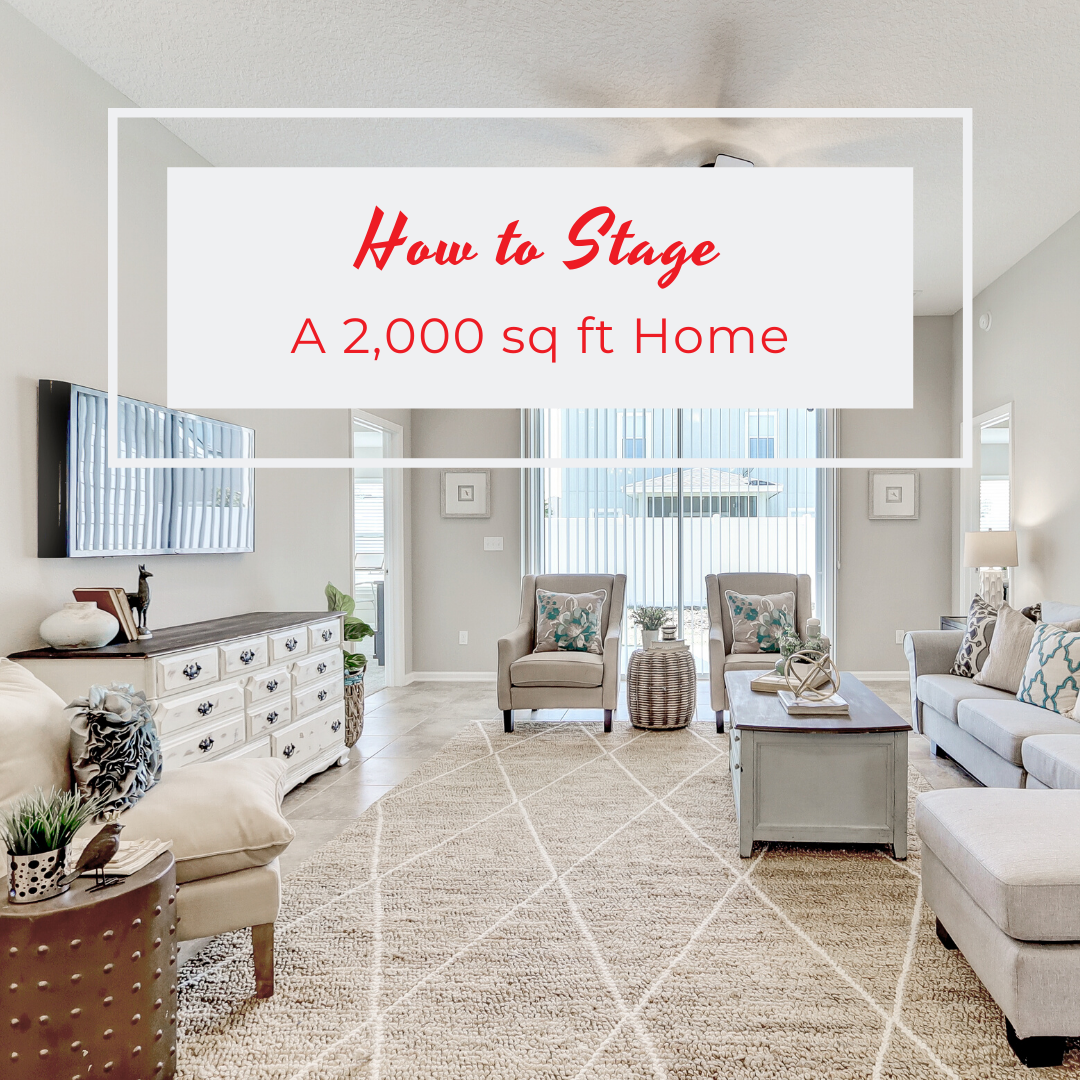 Many people are surprised to hear we often stage really small homes! Most of the homes we stage are between 1,000 and 3,000 sq ft.  So we wanted to clear up some misconceptions and show you everything that goes into staging a