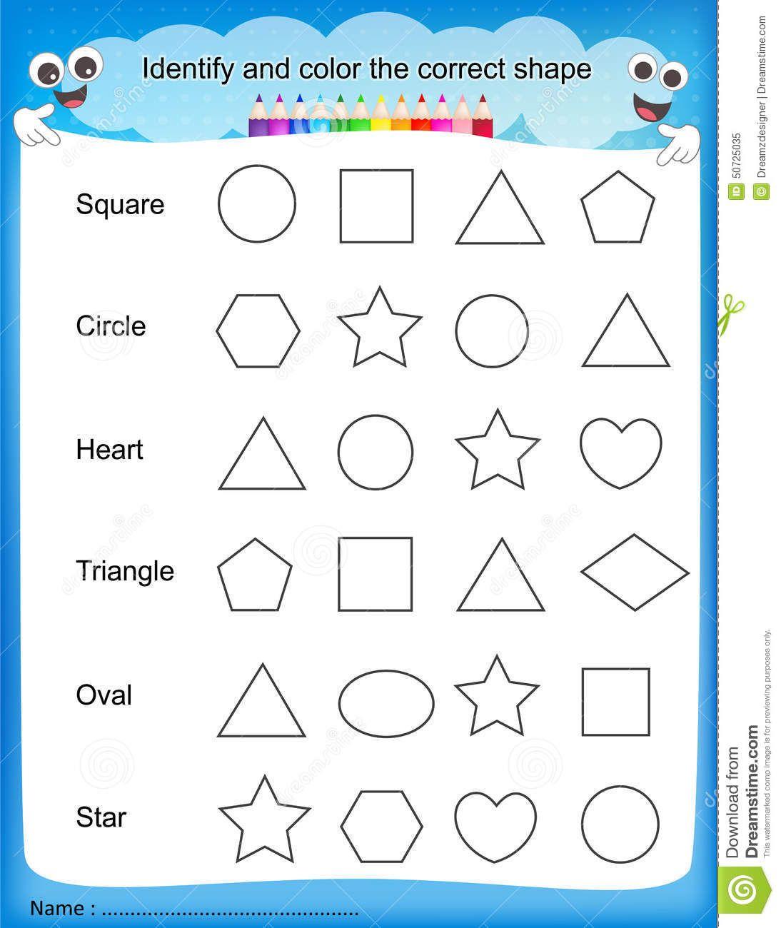 colours worksheet for kindergarten - Color Worksheets For Preschool