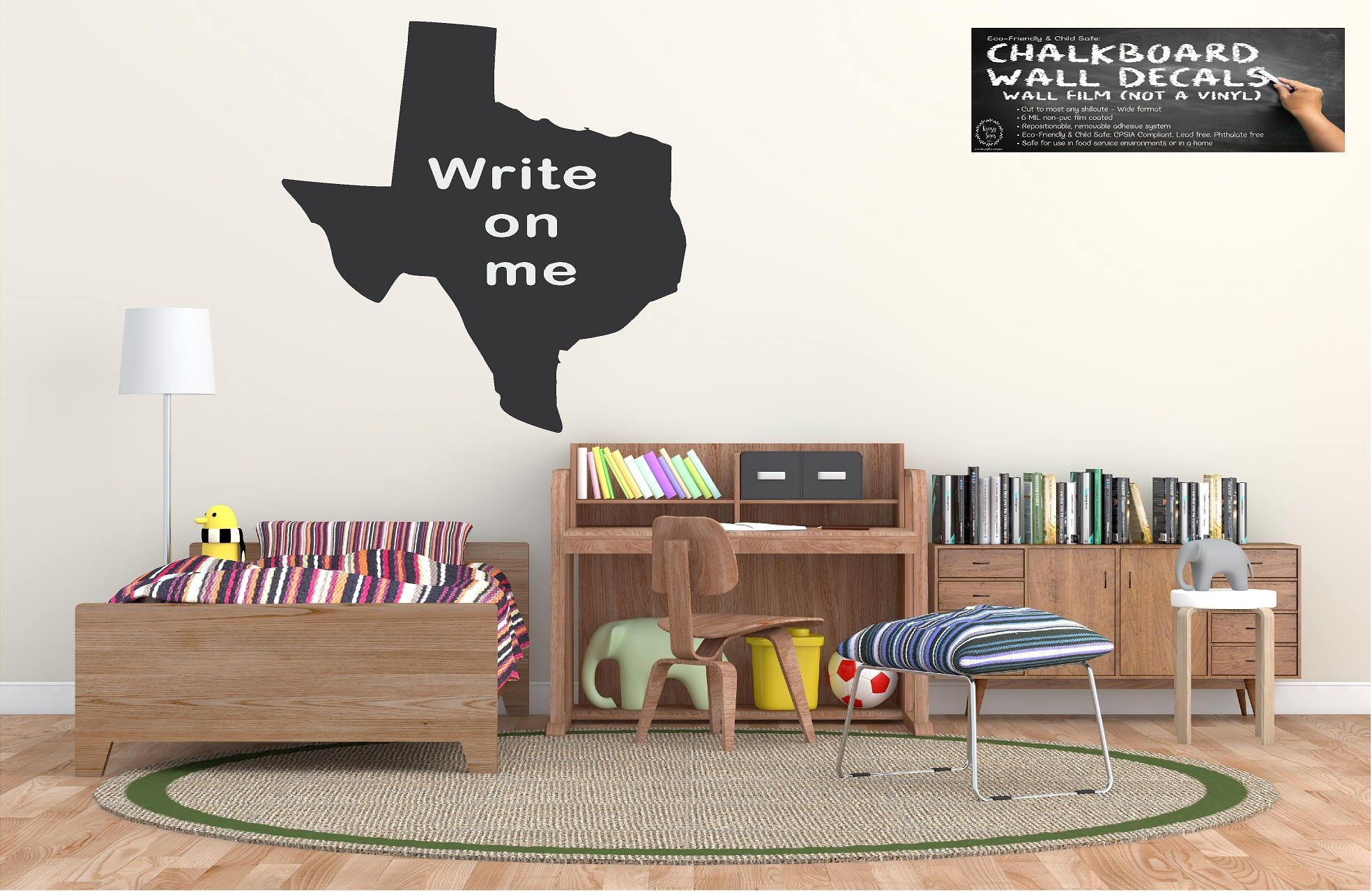 US States Chalkboard Decal | Eco Friendly Child Safe | Non