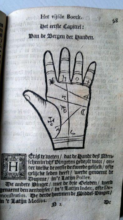 Astrologie; Het groote planeet-boeck. Met de geomanci, physiognomi ende chyromanci (...) - 1700