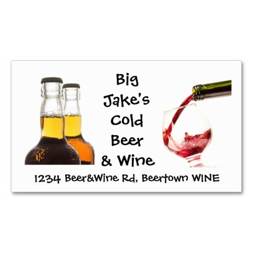 Cold beer and wine liquor store business card wine business cards cold beer and wine liquor store business card colourmoves