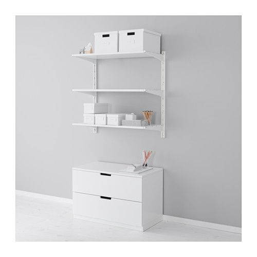 Algot Wall Upright Shelves White Width 33 7 8 Height 33 1 2