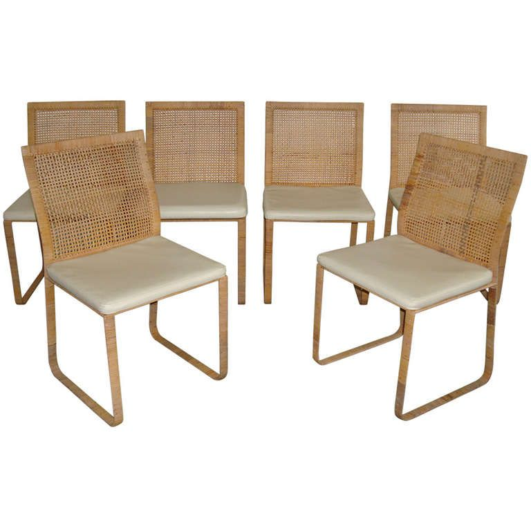 View This Item And Discover Similar Dining Room Chairs For Sale At    Wrapped Woven Rattan Frame And Backrest, These Harvey Probber Chairs Are  All Original.