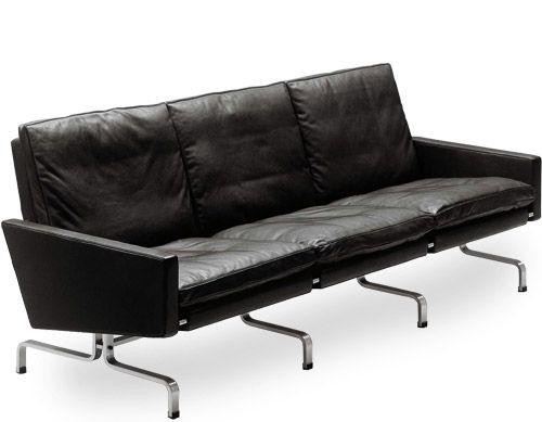 Poul Kjaerholm Pk31 Three Seat Sofa With Images Sofa Design