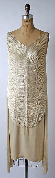 Evening dress Designer: Madeleine Vionnet (French, Chilleurs-aux-Bois 1876–1975 Paris) Maker: Sophie Gimbel (American, Houston, Texas 1898–1981 New York) Date: 1925 Culture: American or European Medium: silk