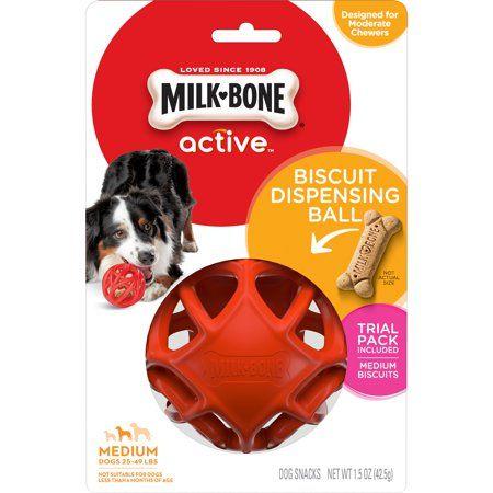 Info's : Milk-Bone Biscuit Dispensing Ball, Interactive Dog Toy for Medium Dogs - Walmart.com